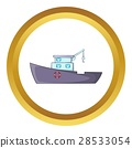 Ship for catching fish vector icon 28533054
