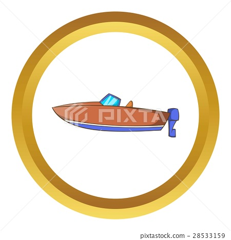 Motor boat vector icon 28533159