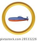 潜水艇 图标 矢量 28533226