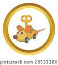 mouse clockwork icon 28533380