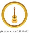 Acoustic guitar vector icon 28533422