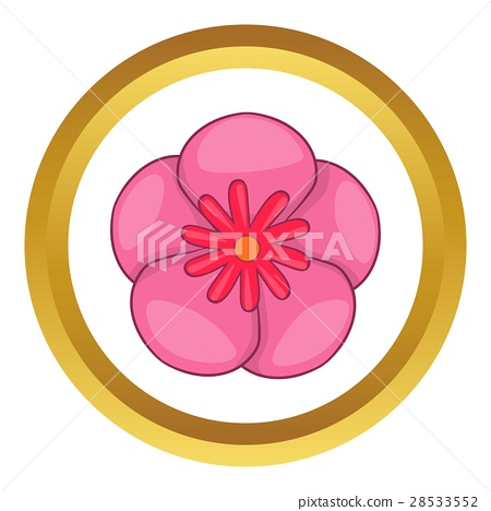 Rose of Sharon korean flower vector icon 28533552