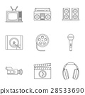 electronic, icon, vector 28533690
