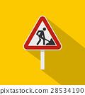 road, sign, flat 28534190