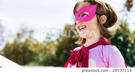 Little Girl Super Hero Concept 28537114