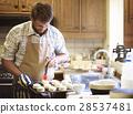 Man Apron Cooking Baking Bakery Concept 28537481