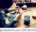 Woman Knitting Handicraft Hobby Homemade 28538156