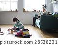 Little Kid Drawing Sketching Cute Adorable 28538231