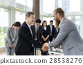Business Partners Introductionary Handshake Bow 28538276