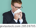 Business Man Sick Cry Tissue Paper 28539705