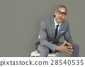 African Descent Business Man Thinking Concept 28540535