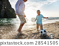 Football Beach Playing Leisure Activity Fun Concept 28541505