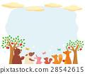 動物 天空 樹木 28542615