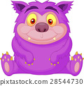 Cute purple monster cartoon 28544730