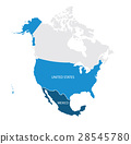 Map of USA and Mexico 28545780