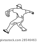 Baseball pitcher throws ball - vector illustration 28546463