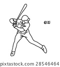 Baseball throws ball - vector illustration 28546464