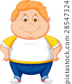 Fat boy cartoon posing 28547324