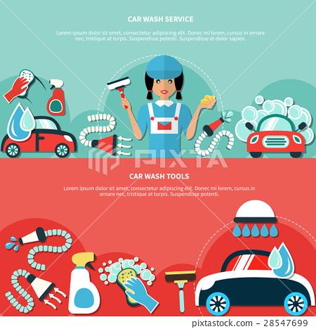 Car Wash Tools Banners 28547699