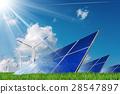 Solar Panels and Wind Turbines 28547897