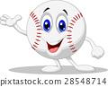 Baseball ball cartoon character 28548714