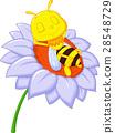 Little bee sleeping on the big flower 28548729