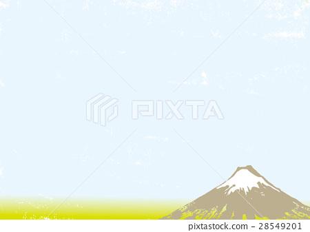 Mt. Fuji ink painting watercolor painting 28549201
