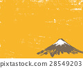 Mt. Fuji ink painting watercolor painting 28549203