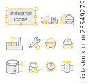 Thin line icons set, Industrial 28549279