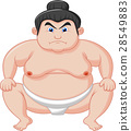 Sumo wrestler cartoon 28549883