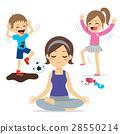 Noisy Children Mother Yoga 28550214