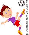 Boy playing football 28550679