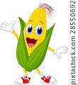 Cute corn cartoon character 28550692