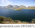 Summer view of Lofoten Islands, Norway 28550871