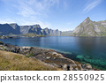 Summer view of Lofoten Islands near Moskenes 28550925