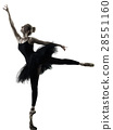 Ballerina dancer dancing woman  isolated silhouett 28551160