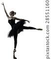 Ballerina dancer dancing woman  isolated silhouett 28551160