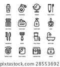 personal hygiene icons 28553692