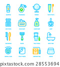colorful personal hygiene icons 28553694