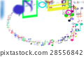 Abstract Background with Colorful Music notes. 28556842