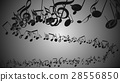Abstract Background with Colorful Music notes. 28556850