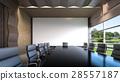 An empty meeting room / 3D Rendering 28557187