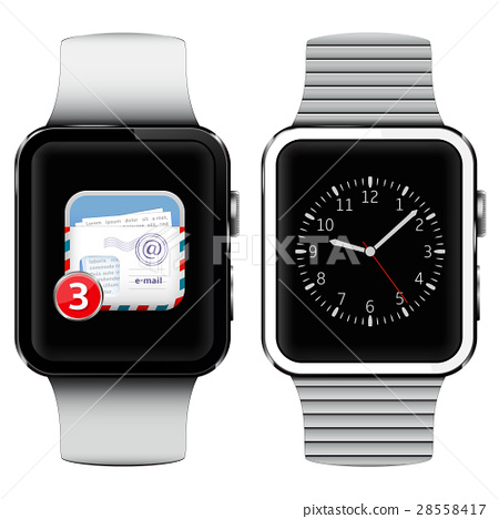 Smart watches with email on the screen 28558417