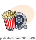 popcorn, cinema, bucket 28558494