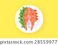 salmon,raw,vector 28559977