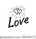 doodle, handwritten, heart 28560575