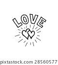 doodle, handwritten, heart 28560577