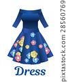 flower dress vector 28560769