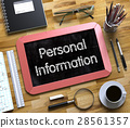 Small Chalkboard with Personal Information Concept 28561357