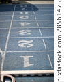 Starting point with running track lane Numbers 28561475